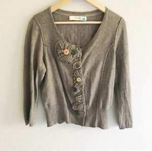 Anthropologie Sparrow cardigan w/ mismatch buttons